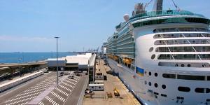 passenger port in Barcelona, Spain