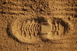 boot print of a agriculture men
