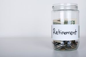 Retirement Savings in Jar