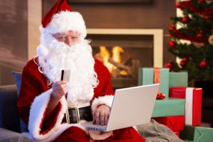 Santa Claus purchasing online