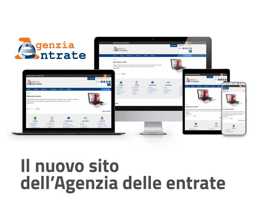 Agenzia delle Entrate: arriva il nuovo Sito web con ricerca dinamica e contenuti profilati