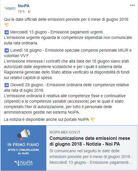 noipa-cedolino-giugno-aumenti-date-ufficiali-facebook