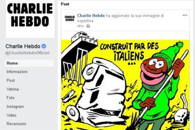 Charlie Hebdo: una vignetta sulla tragedia del Ponte Morandi che fa discutere