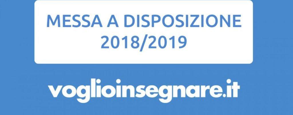 Messa a Disposizione: la guida gratuita 2018/2019