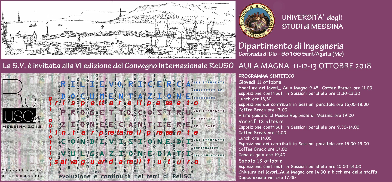 ReUSO Messina 2018: convegno internazionale sul patrimonio paesaggistico, urbano e architettonico