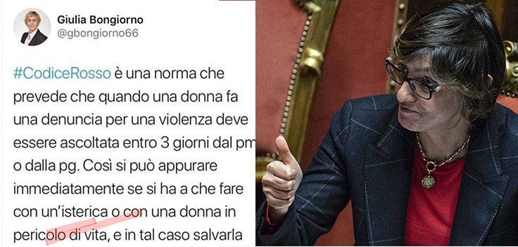 ministro-bongiorno-codice-rosso-tweet