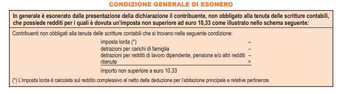 esonero-modello-730-2019-tabella-condizione-generale-esonero